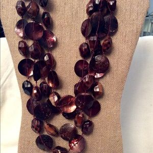 Shades of Brown Multi-strand Necklace